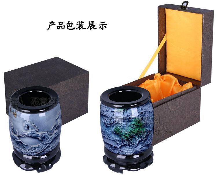 Döner kalem konteyner nakliye kristal kabartma Pekin özel hediye Çin hava zanaat süsler dış iş hediyeler