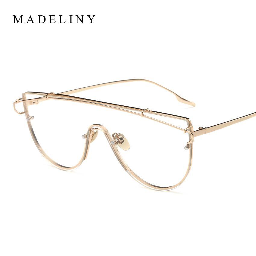 ba5d84f1ae Wholesale- Brand Designer Metal Frame Glasses Fashion Cat Eye ...