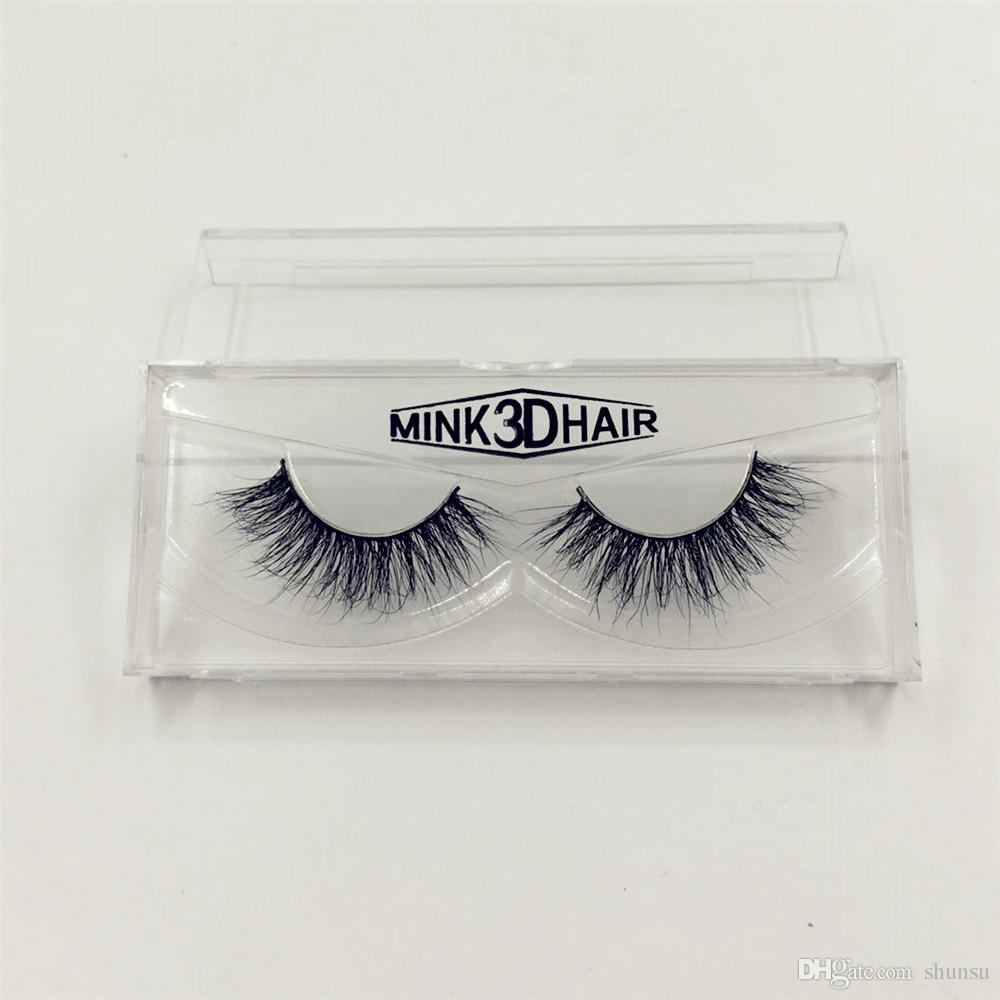 b32aea9df20 100% Real Mink 3D Cross Thick False Eye Lashes Extension Makeup ...