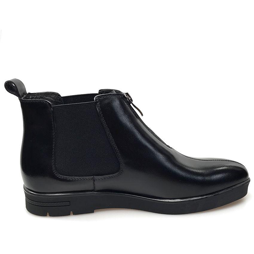 GRIMENTIN Hot sale brand black mens boots genuine leather fashion designer formal men ankle boots high quality business dress mens shoes