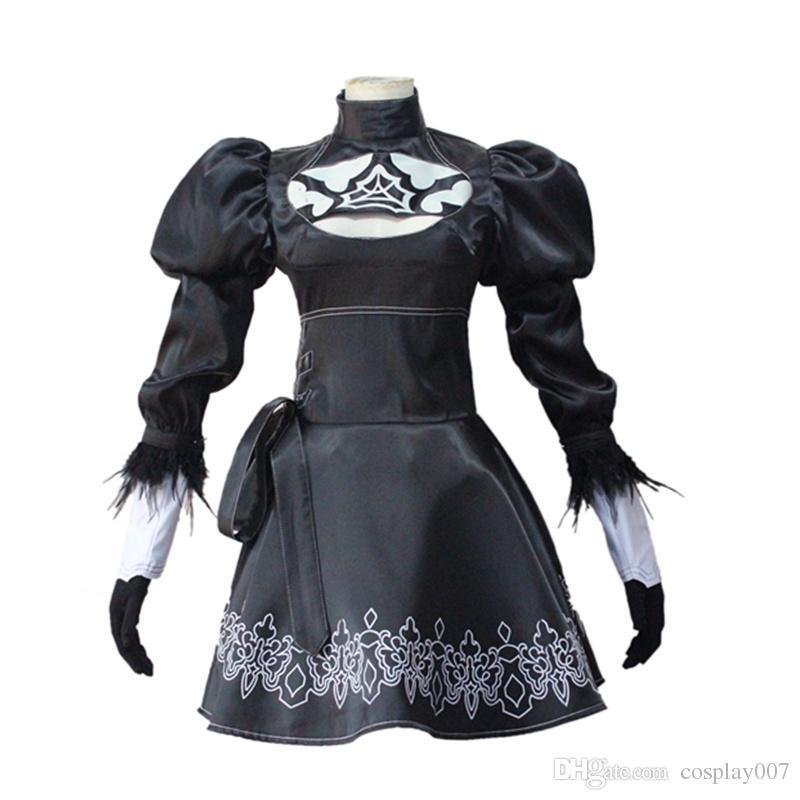 YoRHa No.2 Tipo B costumi cosplay dress Gioco giapponese NieR: Automata abbigliamento Masquerade / Mardi Gras / Carnevale costumi Spedizione gratuita