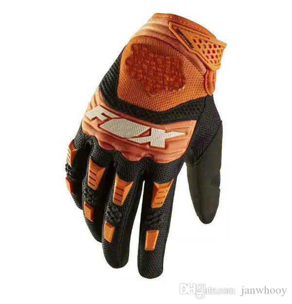 motorcycle gloves New 2017 FOX mountain bike full finger cycling gloves