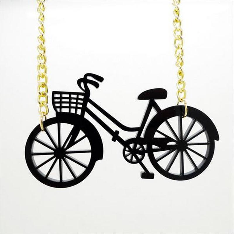 2017 new Necklace wholesale popular bicycle bike travel hip hop accessories necklace direct wholesale