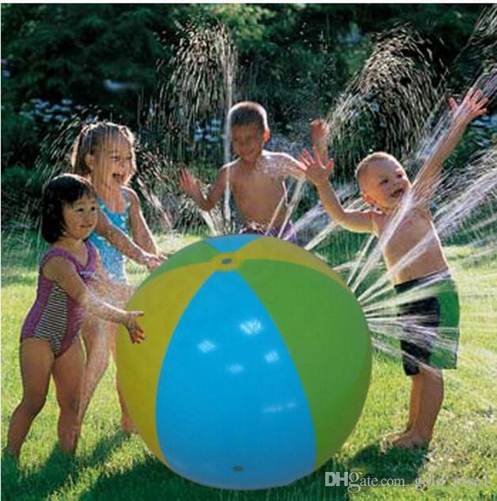 Hotsale Inflatable Beach Water Ball Outdoor Sprinkler Summer Inflatable Water Spray Balloon Outdoors Play In The Water Beach Ball KKA1473