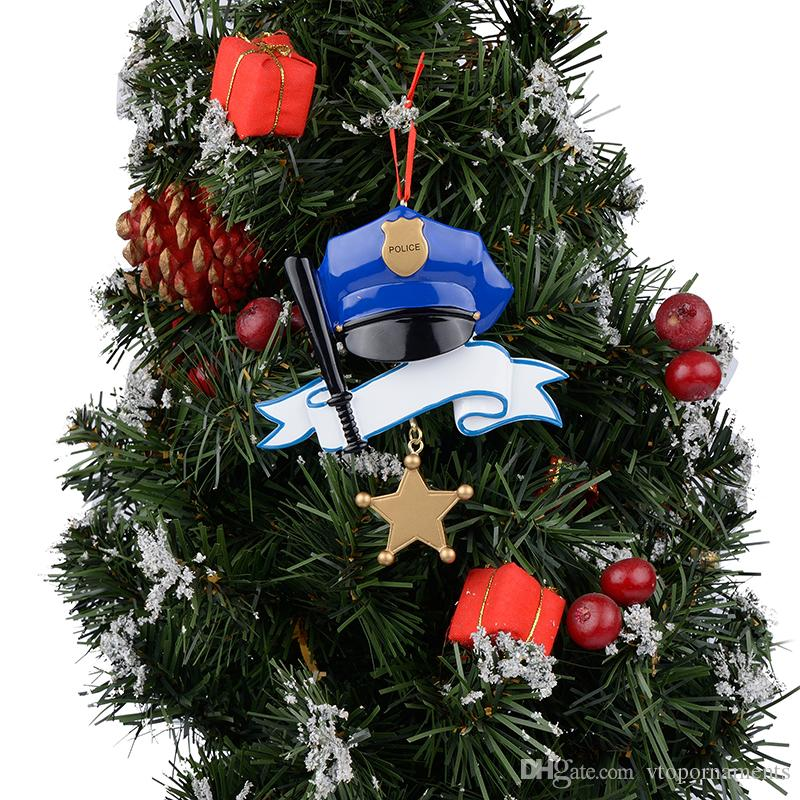 Police Christmas Ornaments.Maxora Police Personalized Polyresin Gloss Hand Painting Christmas Occupation Tree Ornaments As Holiday Gifts Thanks To Special Person Holiday