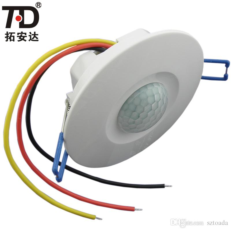 2018 3 Wire Ceiling 180 Degree Infrared Time Delay Motion Sensor ...
