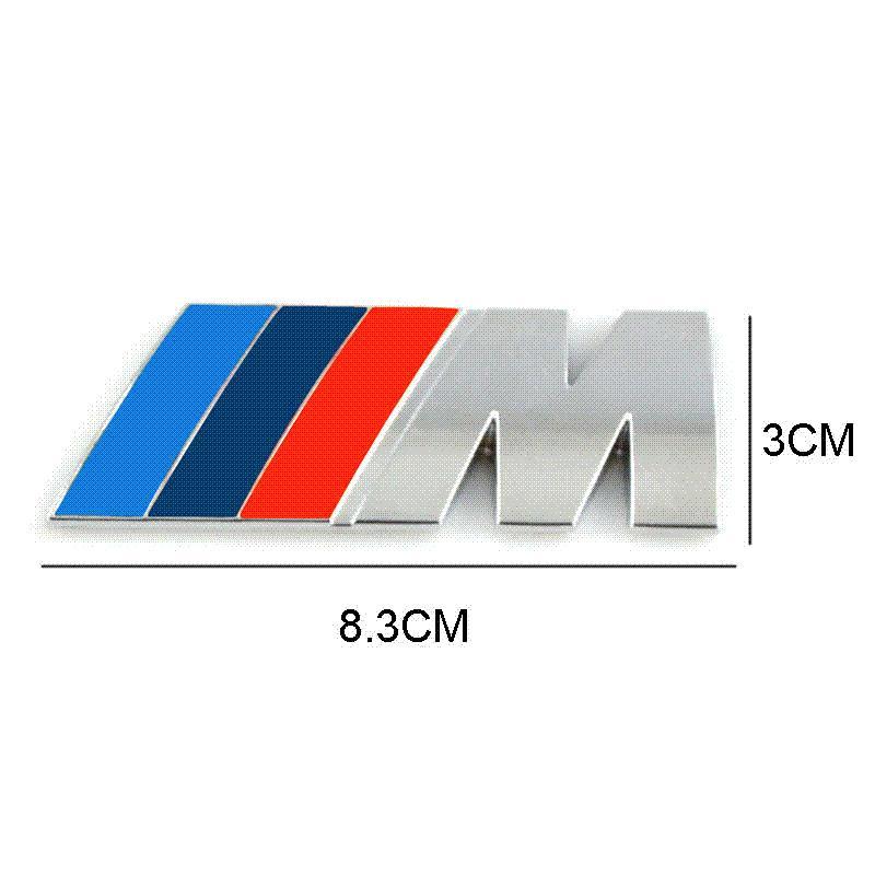 Car Styling Car Decoration Emblem Badge M Logo Metal 3d Car Sticker
