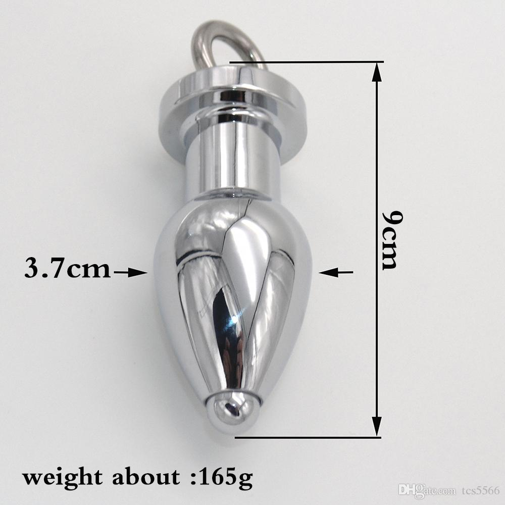 Big in acciaio inox Butt Plug Gay Anal Sex Toys uomini e donne