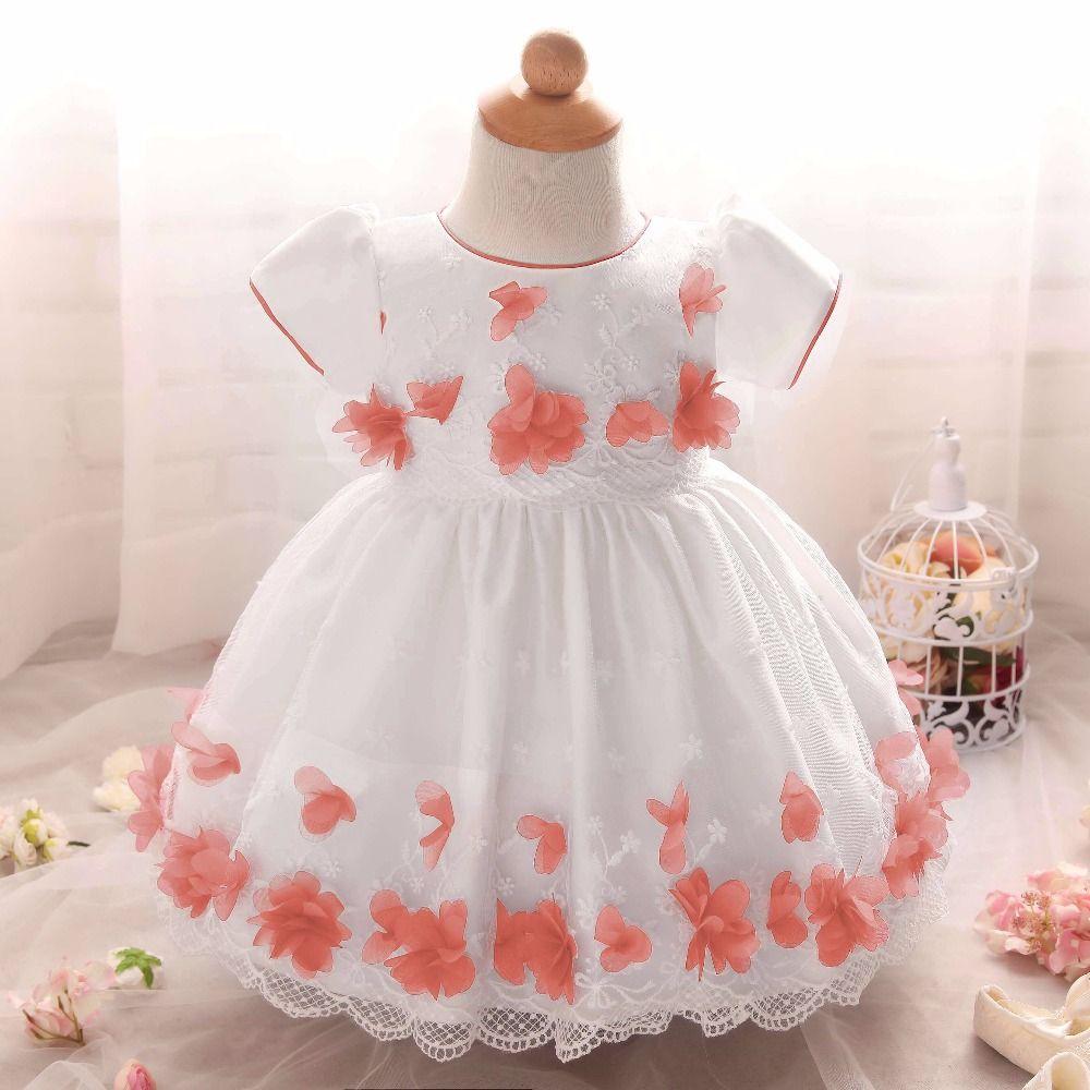 Wholesale- Baby Girl Baptism Infant Dress Christmas Girls Princess ...
