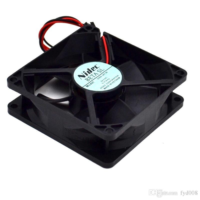 Envío gratis a Nueva original Japón 8025 8 cm 24 v D08A-24TU convertidor ventilador de refrigeración para nidec 80 * 80 * 25 mm