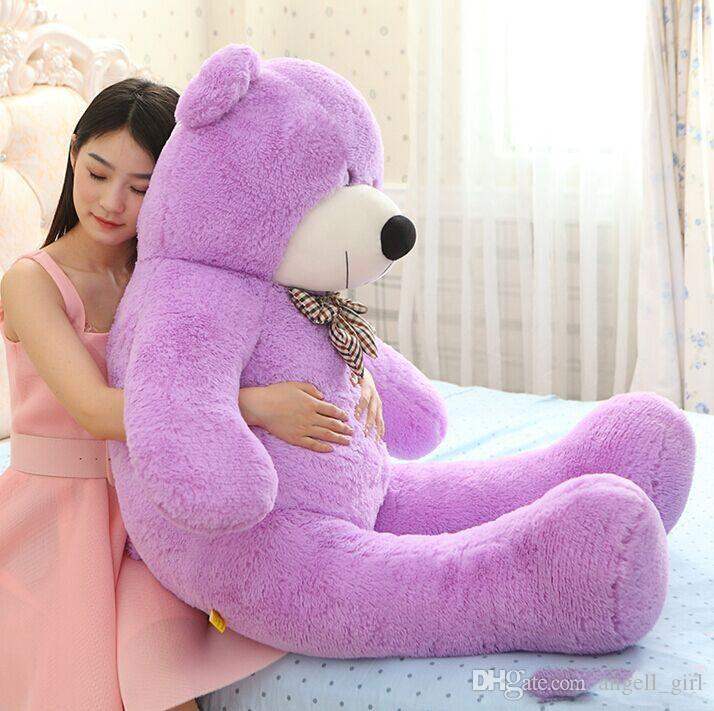 New Arriving Giant Right-angle measurements 200CM/78''inch TEDDY BEAR PLUSH HUGE SOFT TOY Plush Toys Valentine's Day gift brown