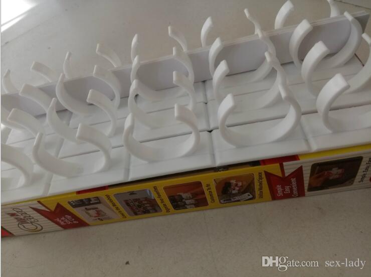 Cheap Wholesale Clip N Store Kitchen Bottle Spice Organizer Rack Cabinet Door Spice Clips 20-Clip Set