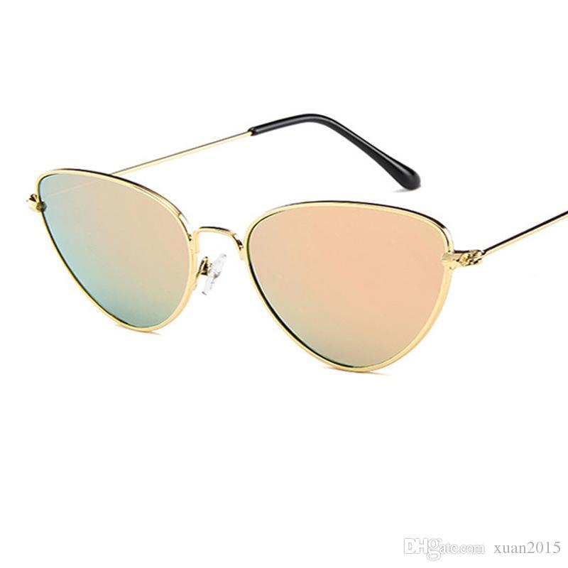 2d51e8fef813 Retro Luxury Sunglasses Women Brand Designer Famous Fashion Rose Gold Sun  Glasses Female Mirror Vintage Cat Eye Ladies Sunglass UV400 Y27 Reading  Glasses ...