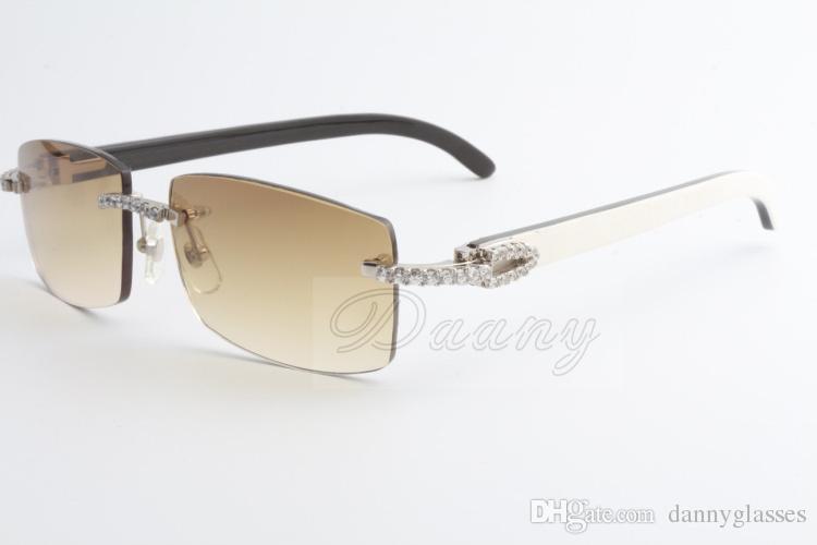 2019 New Selling Limited Grande Diamante Sunglasses Masculino e Feminino Chifres mistos Óculos de sol 3524012 2 Tamanho: 56-18-135mm
