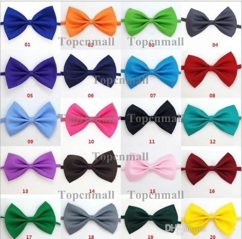 Polyester Silk Pet Dog clothing Necktie Adjustable lovely Bow Ties Necktie puppy pet bows neck tie pet collars neckties