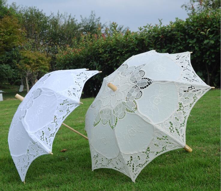 Main coton blanc dentelle parapluie mariée mariage Parasol décoration dentelle Artisanat parapluie pour défilé de mode décoration de fête