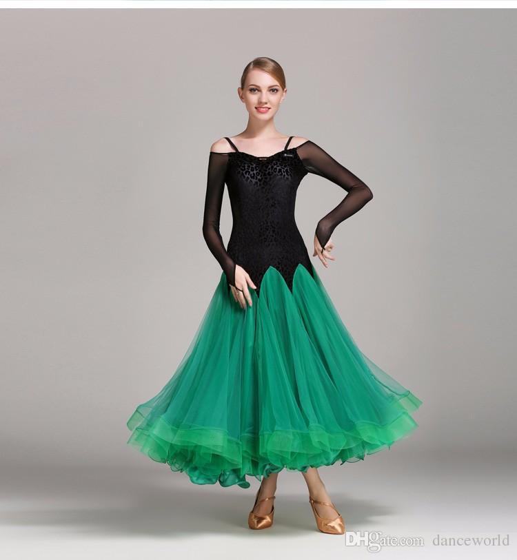 Balo salonu dans için standart standart balo salonu balo salonu dans elbise Standart Viyana valsi elbise balo salonu dans yarışması elbiseler