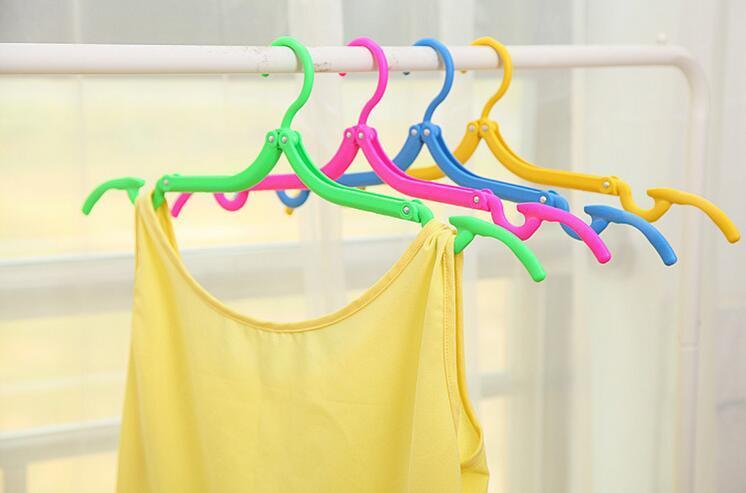 new household helper travel camping portable foldable plastic magic hanger antislip drying racks hangers for laundry clothes