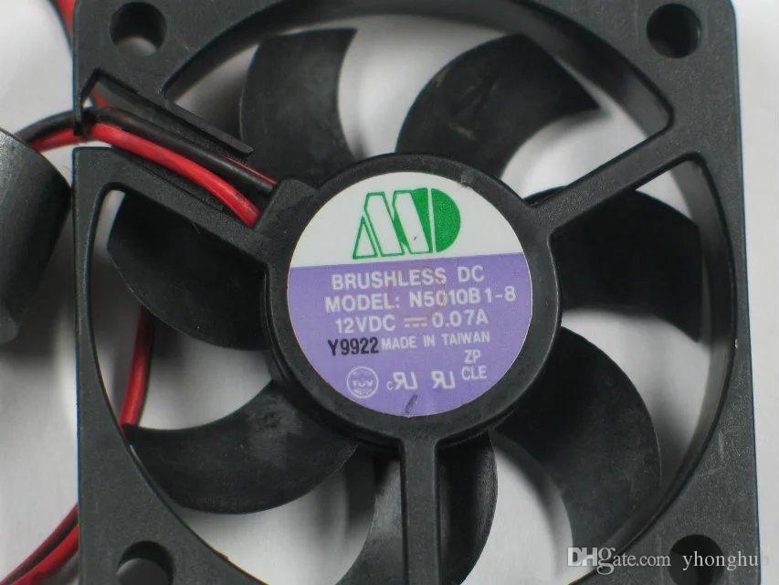 Livraison Gratuite Pour SUNON N5010B1-8 DC 12 V 0.07A 2 fils 2 broches connecteur 90mm 50x50x10mm Serveur Carré Ventilateur De Refroidissement