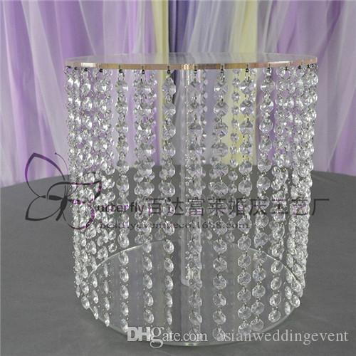 1 tier Asian Crystal wedding cake stand Dessert crystal cupcake towers for Wedding Table Centerprise