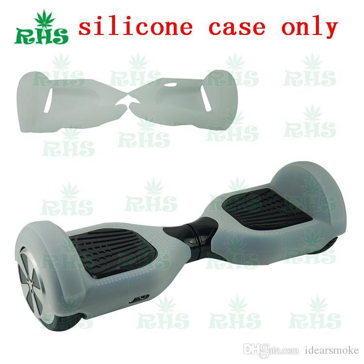 6.5 인치 Hoverboard 전동 스쿠터 보호 실리콘 케이스 자기 스마트 밸런스 스쿠터 2 바퀴 5 색 실리콘 스킨 케이스 커버 부품