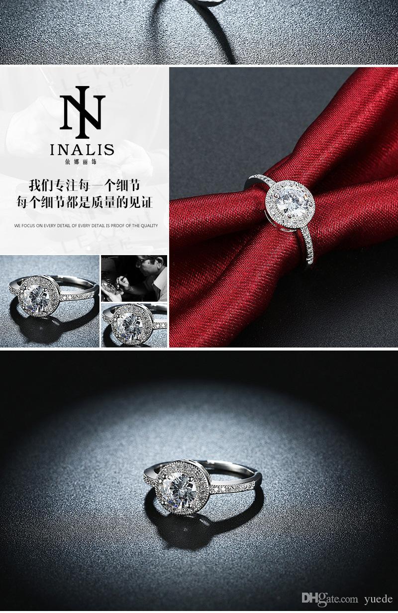 الجملة بيع الأزياء والمجوهرات الجديدة 925 الفضة أوبال زوجين حلقة تناسب باندورا الإناث الكريستال من خواتم سواروفسكي