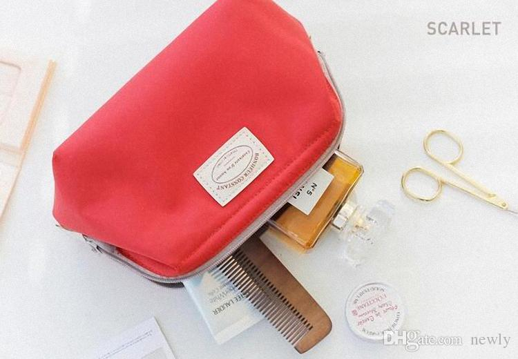 4 couleurs Nylon grande capacité, maquillage, simplicité de voyage, trousse de toilette, sac de toilette