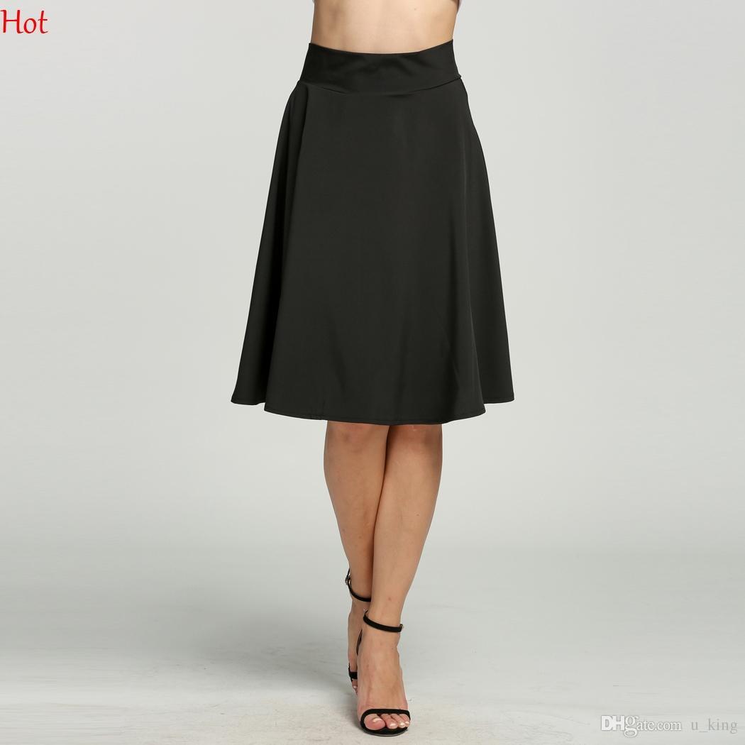 a93a204a23f 2019 2017 Summer Style Sexy Skirt Girl Lady Korean High Waist Short Skater  Skirt Knee Length Fashion Female Mini Skirt Women Clothing SV015431 From  U king