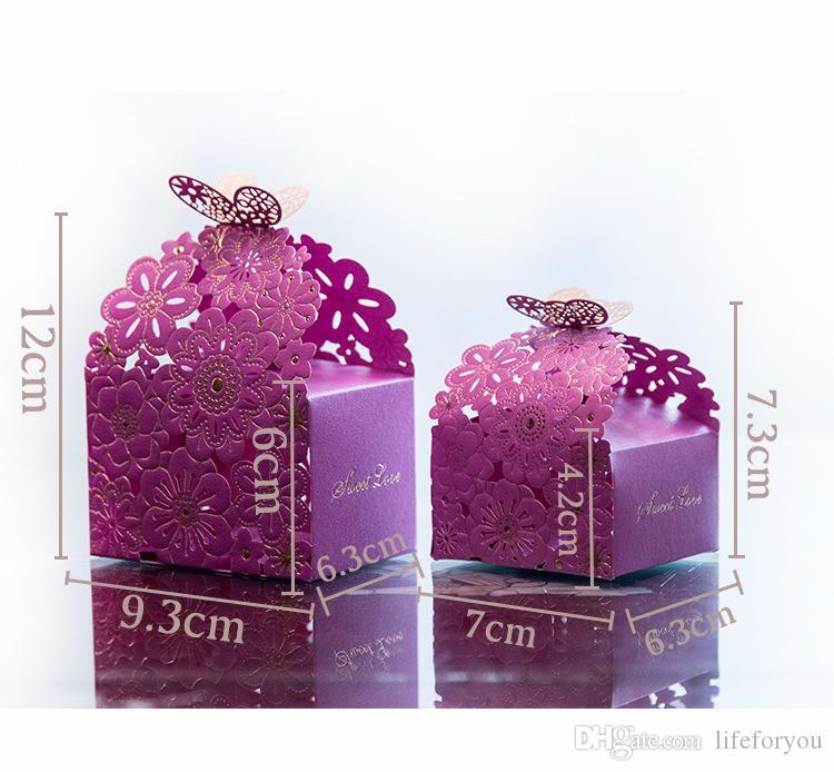 Geschenkboxen Bevorzugungskästen Pralinenschachteln Hochzeit Bevorzugungsgeschenk Pralinenschachtel Hohle Schmetterling Geschenkbox Party