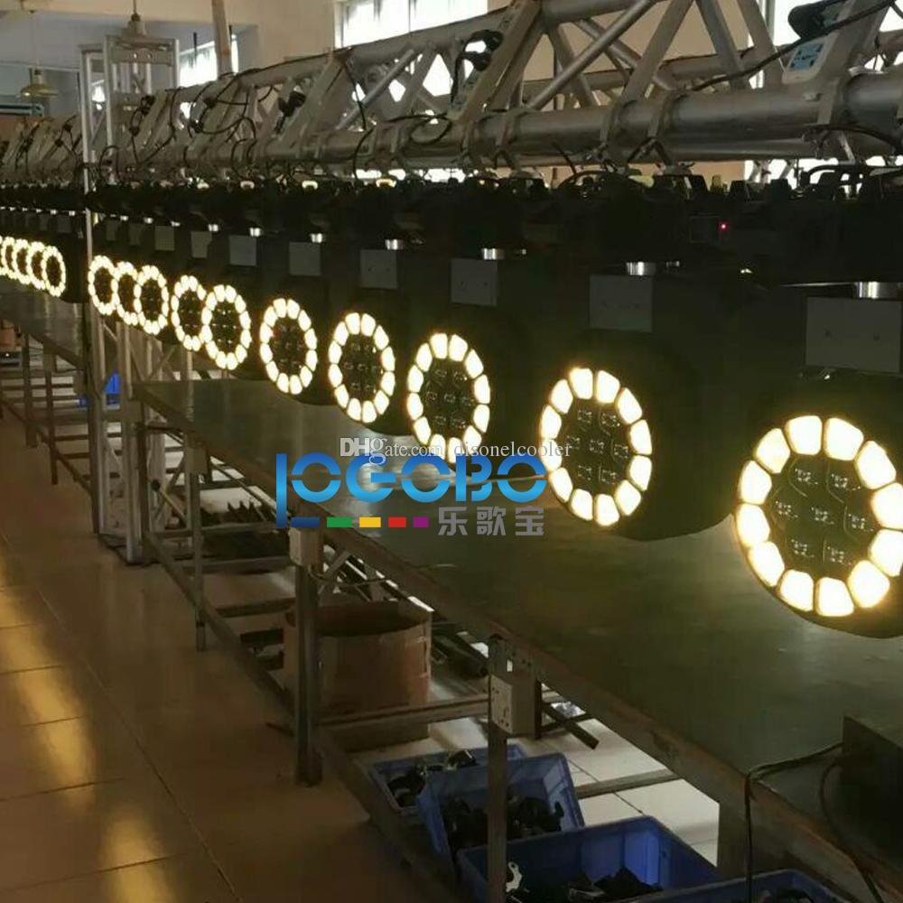 حزمة من 2 مجموعات 19x15W كبيرة عين النحل الإضاءة بقيادة نقل رئيس ديسكو العارض تكبير 4-60 درجة RGBW DMX DJ شعاع بقعة المرحلة تأثير حزب أضواء