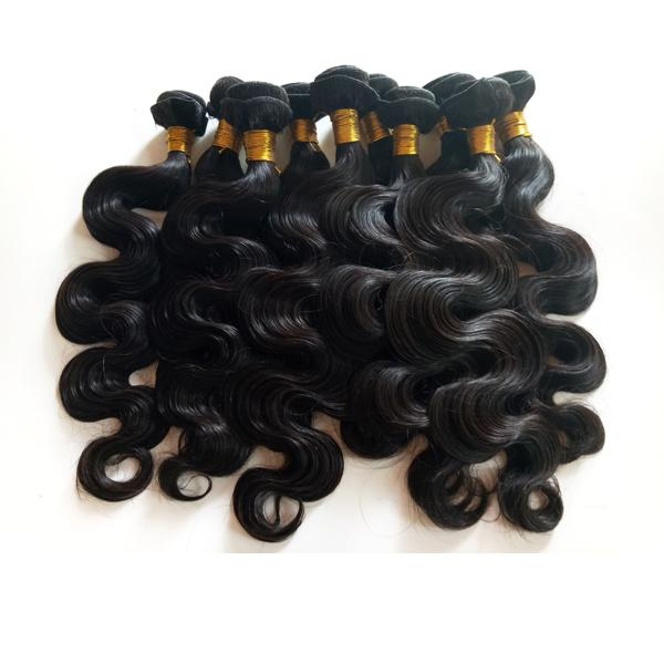 Virgin Brazilian Human Hair Extensions Malaysian Human hair Weft Keep scale body wave Natural Color Hair 3 4 /8A Best quality