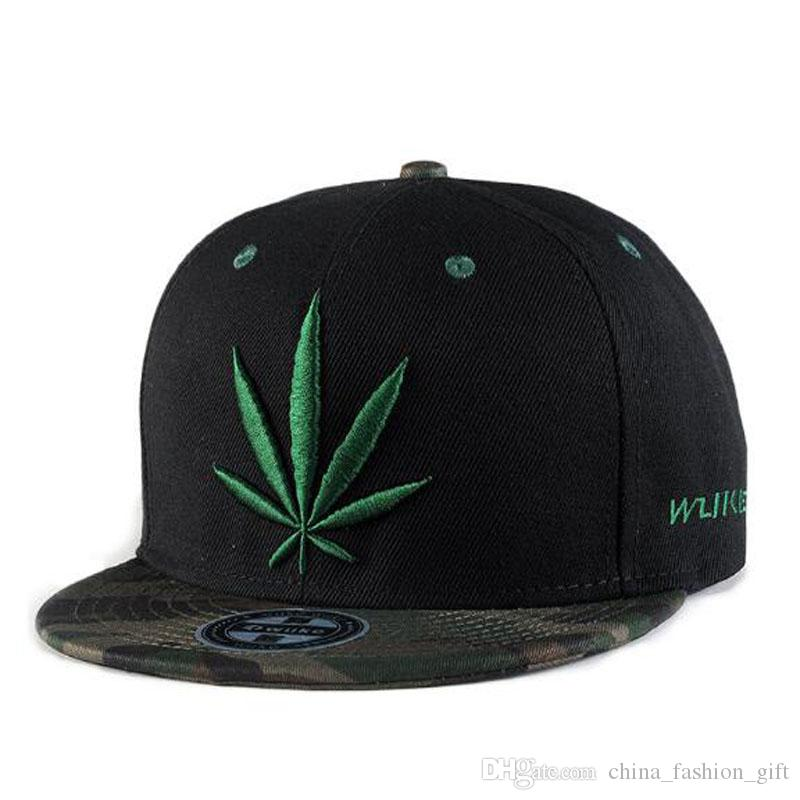 Maple Leaf Caps Embroidery Hats Fashion Black Baseball Outdoor