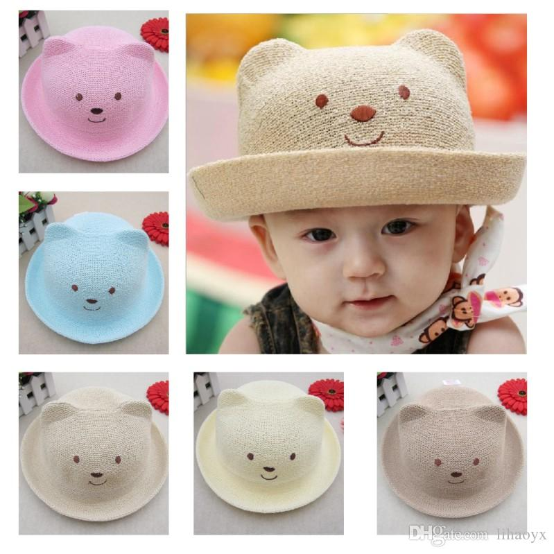 aa604e9a 2019 Hot Sale Baby Summer Hats For Beach Kids Outdoor Bear Children Baby  Straw Cap New Kids Sun Hats Free Fast Shipping M026 From Lihaoyx, $1.68 |  DHgate.
