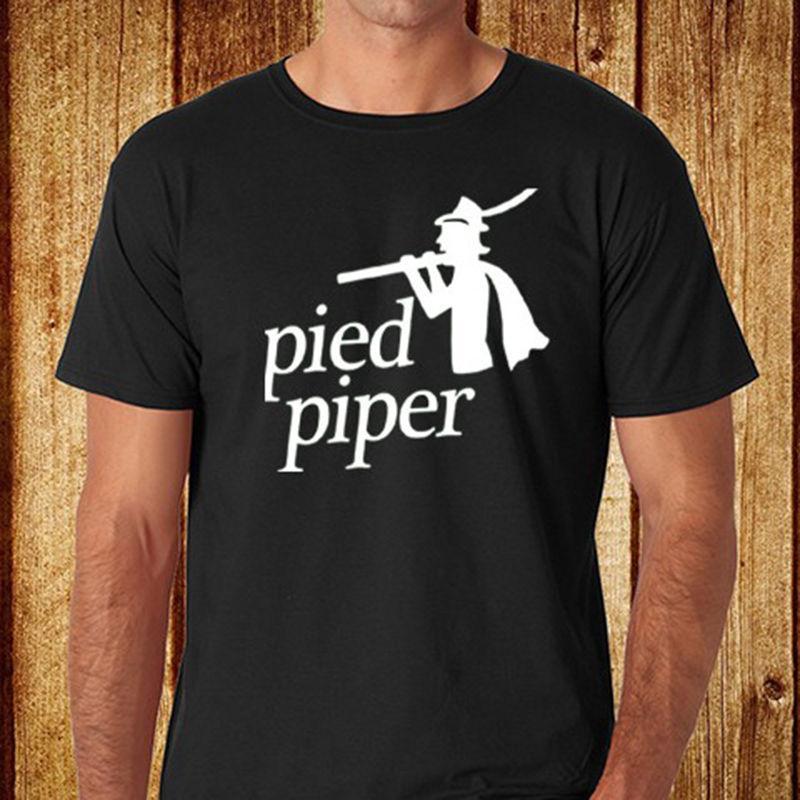 6b6c7e52917 Brand Clothes Summer 2017 New DJ Pied Piper Music Logo Mens Black T ...