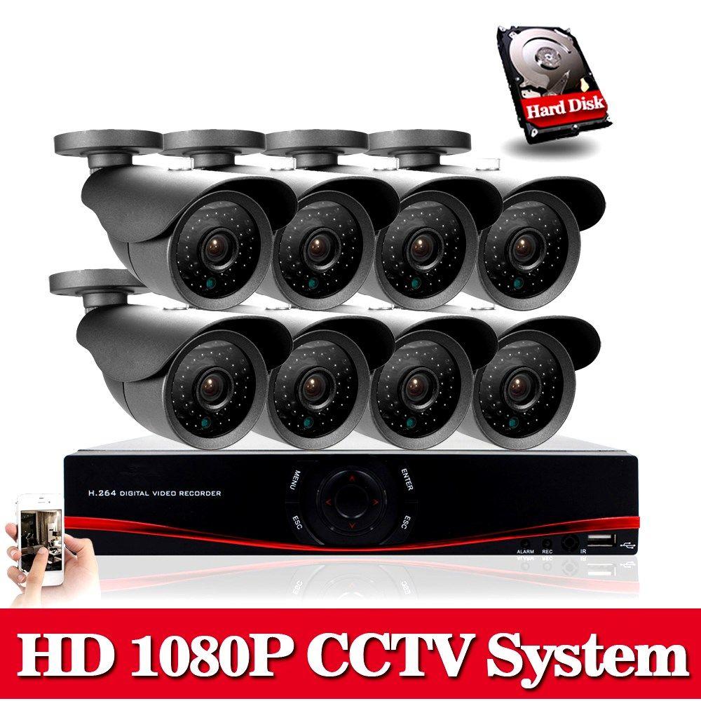 2x 3000TVL 1080P Vandalproof Waterproof CCTV Security AHD DVR Dome Camera IR-CUT