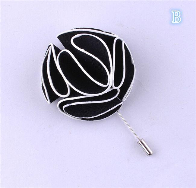Handmade Flower Boutonniere Stick Brooch Pin Mens Accessories Men Lapel Pin Brooch Flower Suit high quality