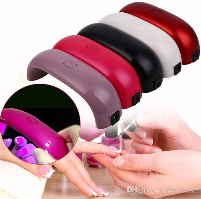 Mini lampe à ongles arc-en-ciel led 9W LED lampes de lumière en forme de pont en forme de mini durcisseur ongles sèche-linge machine de soins de la lampe pour le gel UV câble USB