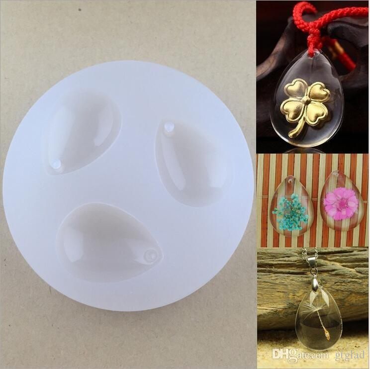 Diy Silicone Pendant Mold Water Drop Shape Pendant With Hole Mould
