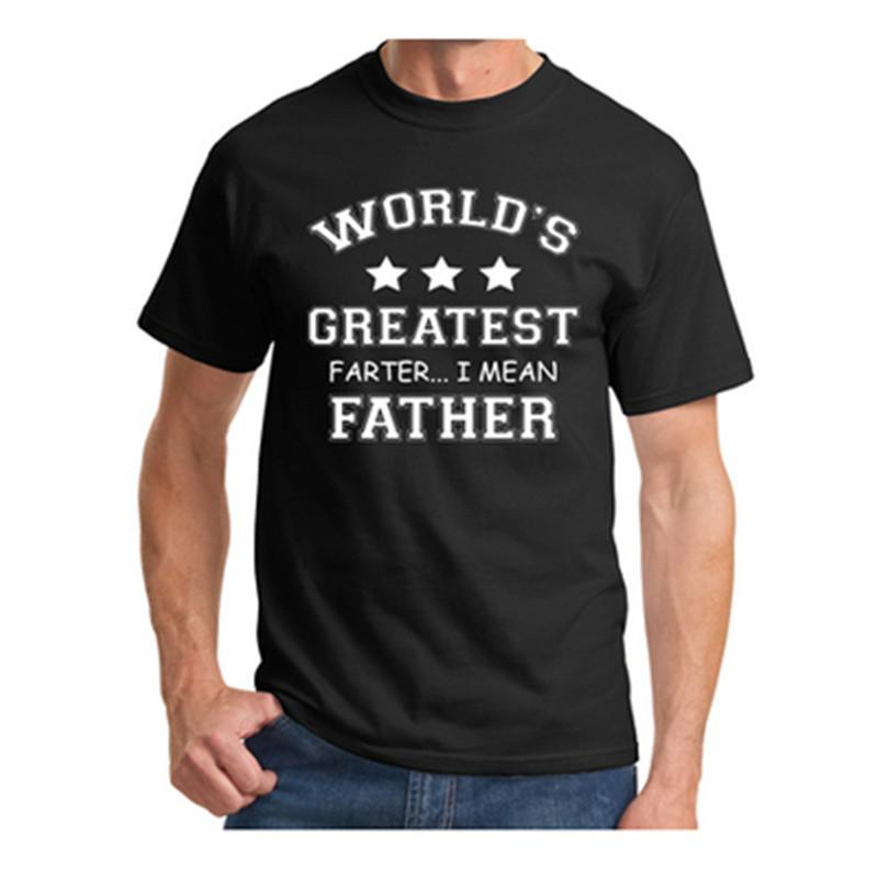 7de4e55f38fa4 Wholesale- Mens T Shirts Worlds Greatest Farter Funny Fathers Day Tshirt  New Dad Gift Tee Poop Humor Tee Shirt Casual Summer Tops S-XXXL