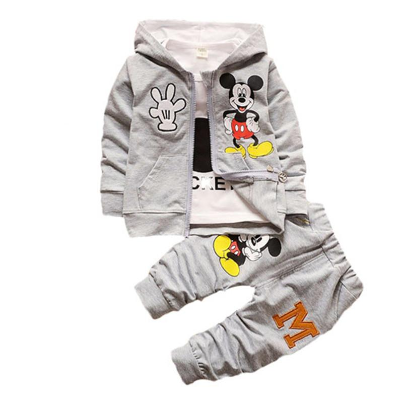a7a2adbc Wholesale- New 2017 Spring Autumn Children Boys Girls Clothing Sets ...