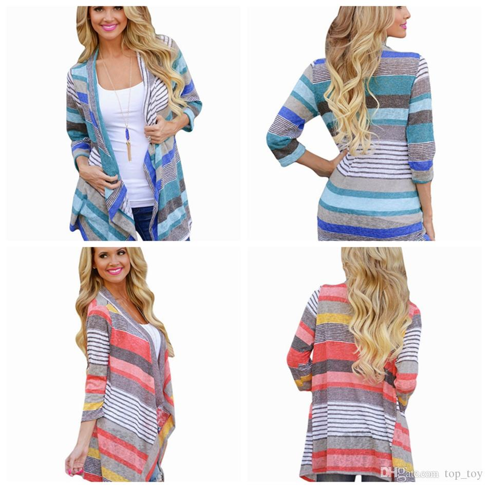 Irregular Sweater Long Sleeve Cardigan Women Spring Fall Sweater ...
