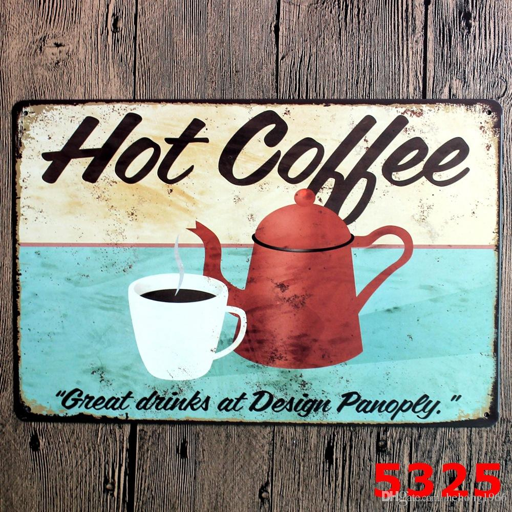 En Métal Signes Vintage Café Menu Chaud Chocolat Fer Peinture 20 * 30 cm Affiche En Étain Pour Bar Décoration Creative Ameublement 3 99rjd