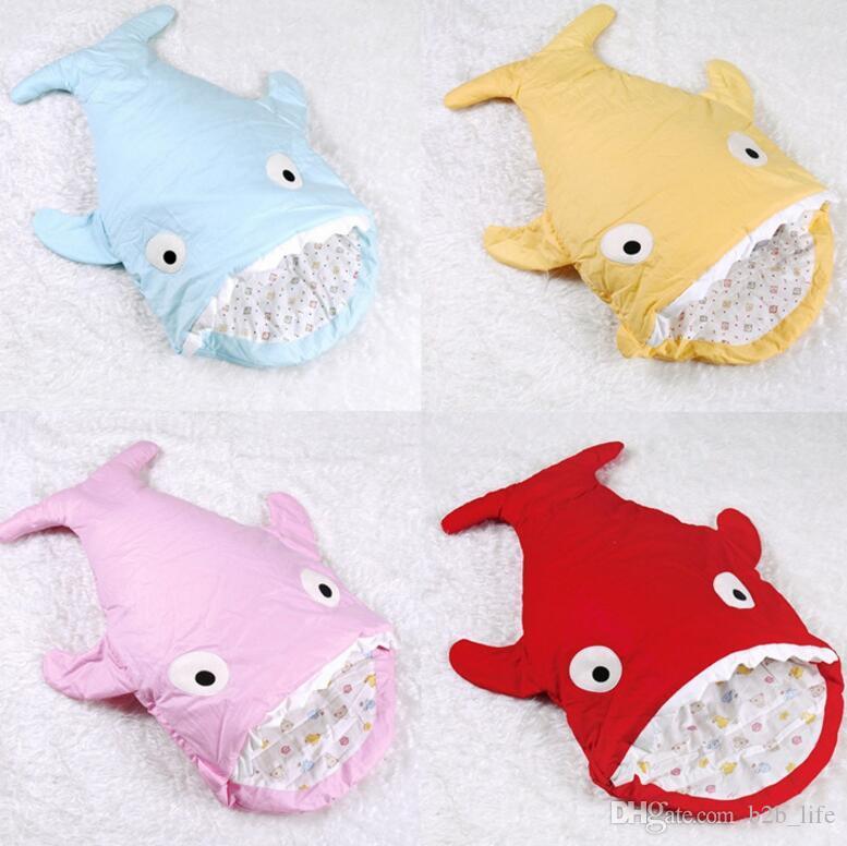 Shark Pillow Sleeping Bag baby shark sleeping bag newborns quilt winter strollers bed