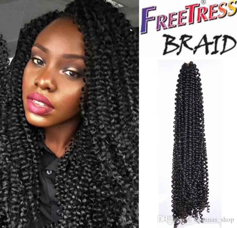 2018 new freetress water wave 3x flexi lock pre loop hair freetress water wave 3x flexi lock pre loop hair extension black color human crochet hair twist bohemian braids nubian hair from brennasshop ccuart Gallery