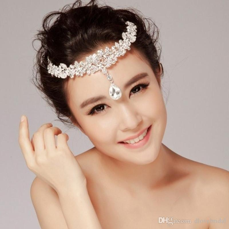 Vintage Butterfly Headband Crystal Rhinestone Front Hairband High Quality Wedding Prom Party Tiara Hair Accessories Fair Maiden Headpieces