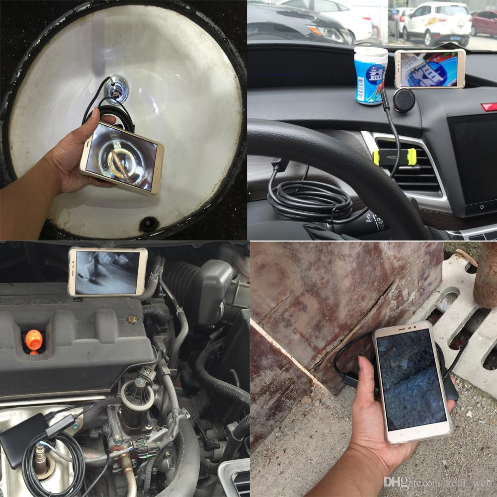 Wholesale 7mm Lens Android USB Endoscope Camera 3.5M IP67 Waterproof Snake Pipe Gadget Inspection Android Phone OTG USB Borescope 6LED 7