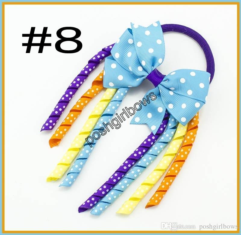 Envío gratis 3.5 '' X6 '' funky Arcos de pelo Korker Colorful Korkers pinwheel Korker Arco iris Arcos