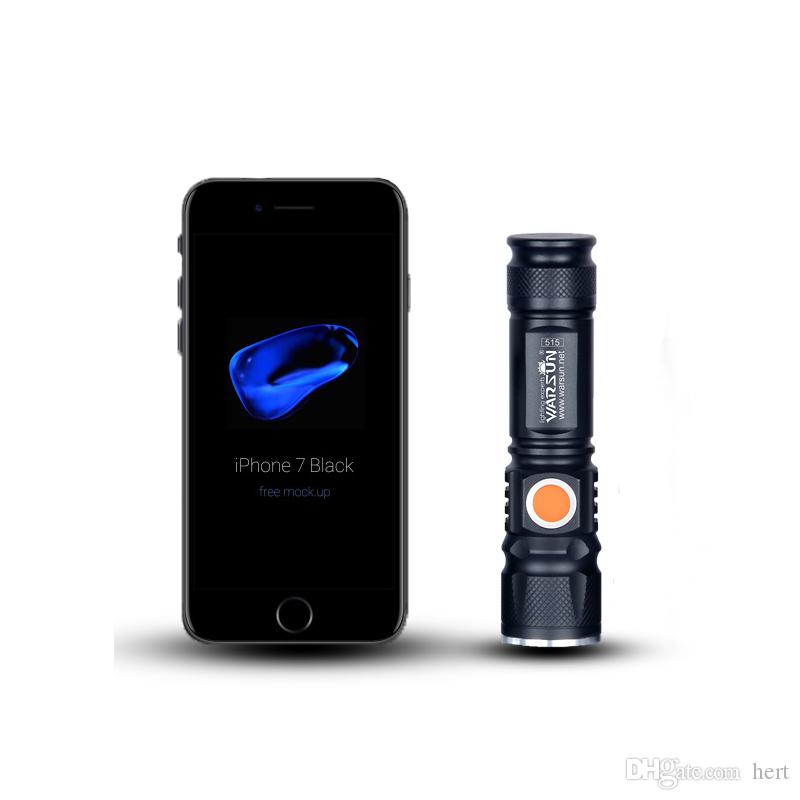 wholesale waterproof USB-Charger Powerful Lanterna Tactical Torch Flash Light Linterna LED Zoomable For Hunting Gladiator Zaklamp Flashlight