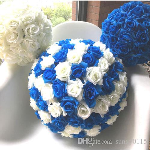 2018 Artificial Silk Flower Ball Wedding Centerpiece Pomander ...
