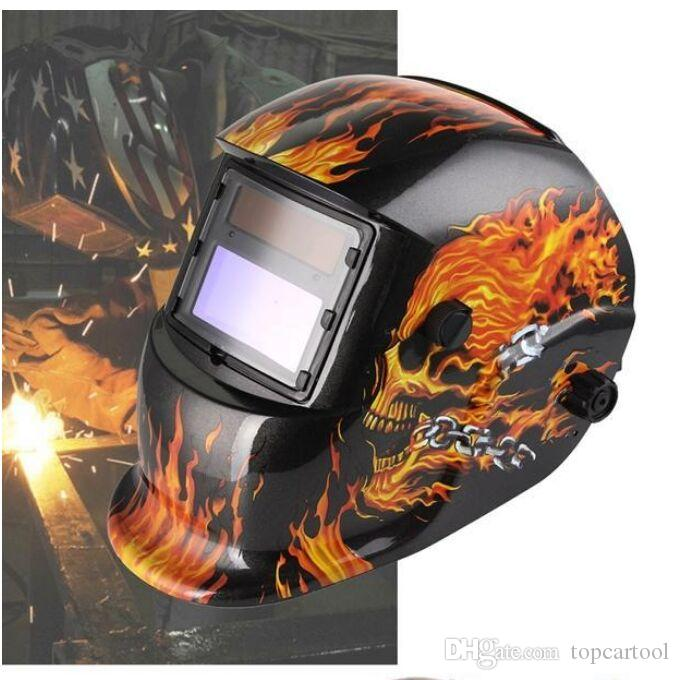 Skull Solar Auto Darkening MIG MMA Electric Welding Mask/Helmet/welder Cap/Welding Lens for Welding Machine